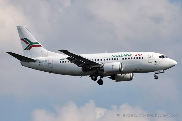 Bulgaria Air Boeing B737-500 old colours