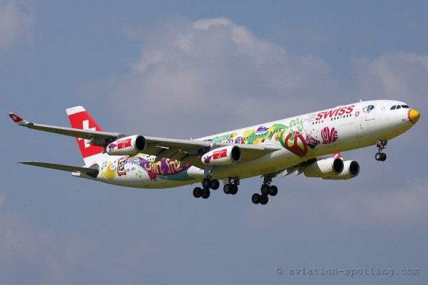 Swiss Airbus 340-300 San Francisco special colours