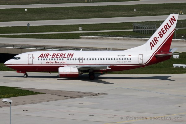 Air Berlin Boeing B737-700 old colours (Germany)