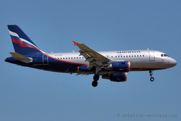 Aeroflot Russian Airlines Airbus 319