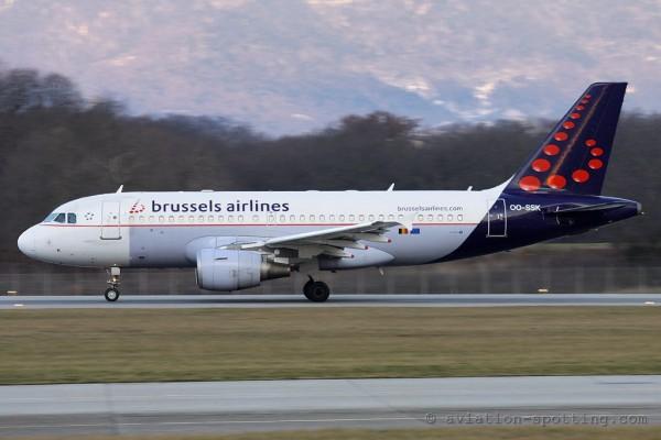 Brussels Airlines Airbus 319 (Belgium)