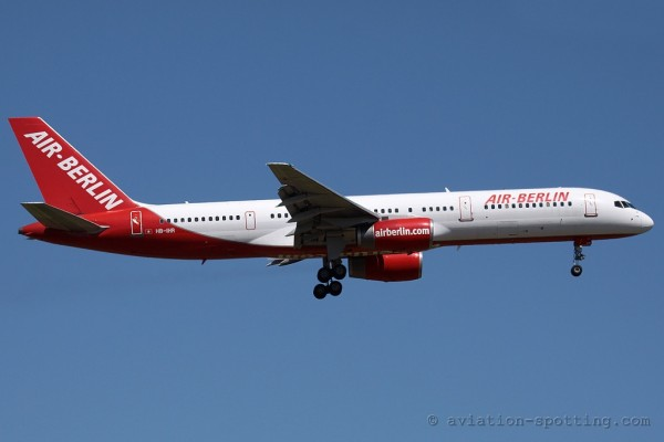 Air Berlin (Belair) Boeing B757-200 (Switzerland)