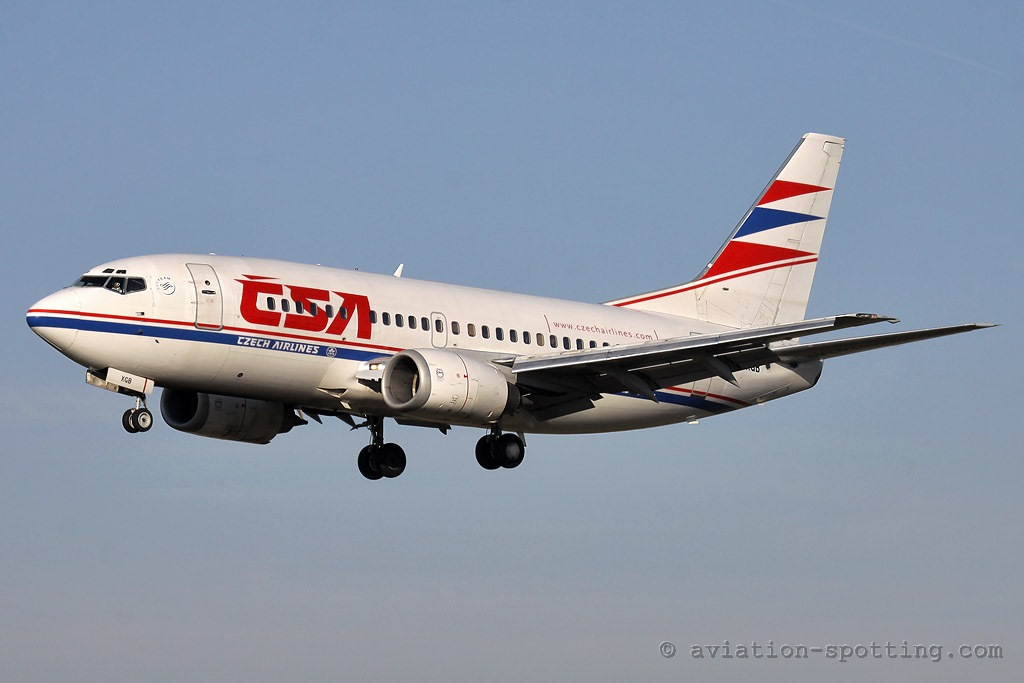 CSA Czech Airlines Boeing 737-500 old colours