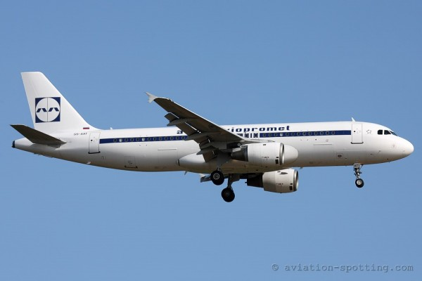 Adria Airways Airbus 320 retro colours (Slovenia)