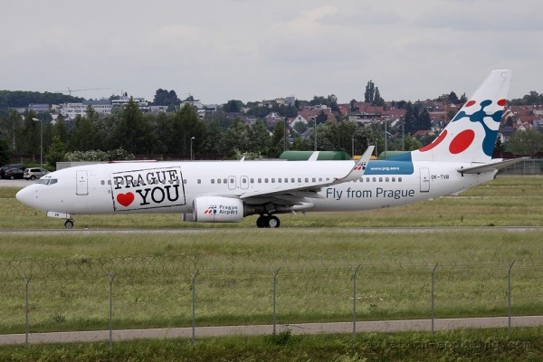 Travel Service Boeing B737-800 Prague Special colours (Czech Republic)