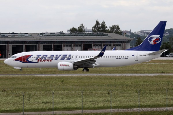 Travel Service Boeing B737-800 (Czech Republic)