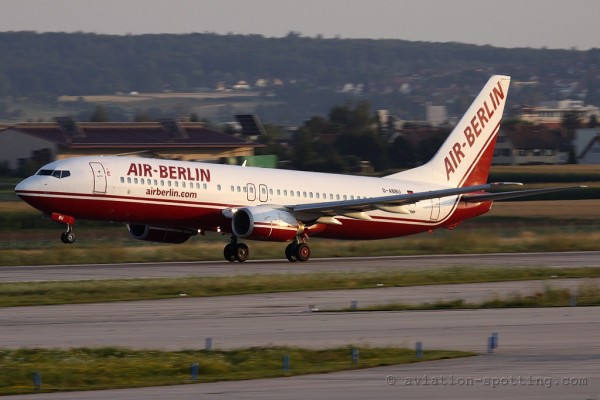 Air Berlin Boeing B737-800 old colours (Germany)