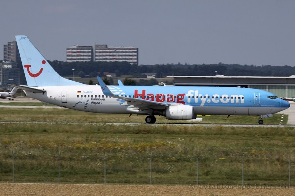 Hapagfly Boeing B737-800 Hannover Airport special colours (Germany)