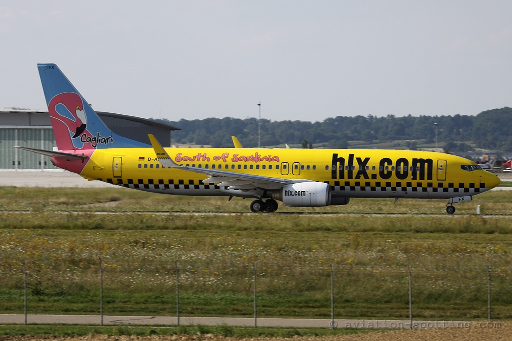 Hapag Loyd Express Boeing B737-800 Cagliari special colours (Germany)
