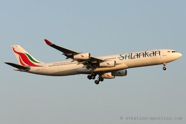 SriLankan Airlines Airbus 340-300