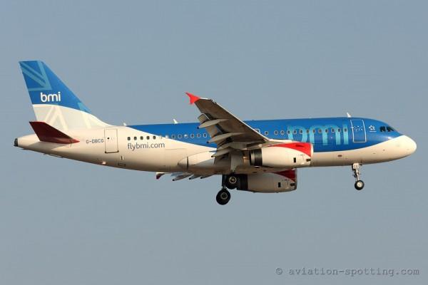 BMI British Midland Airways Airbus Airbus 319 (UK)