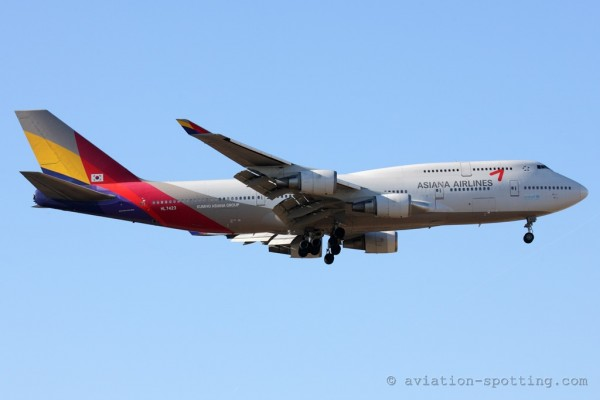 Asiana Airlines Boeing B747-400 (South Korea)