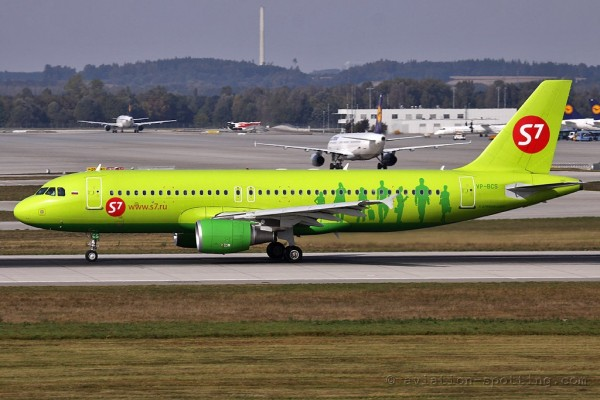 S7 Airlines Airbus 320 (Russia)