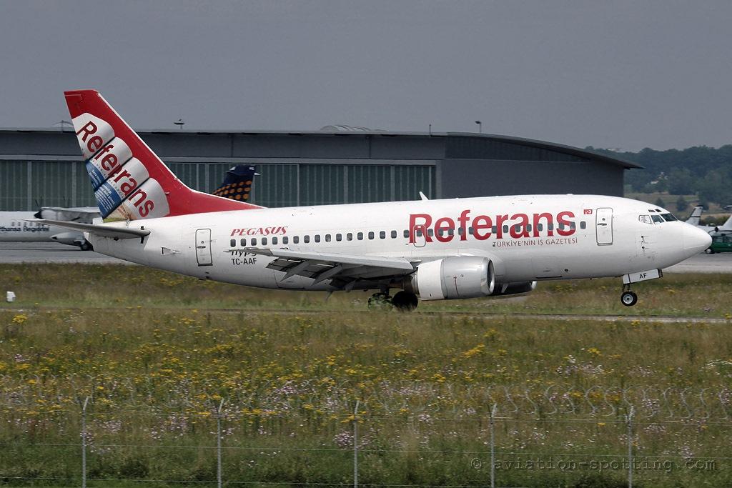Pegasus Airlines Boeing 737-500 Referans special colours (Turkey)