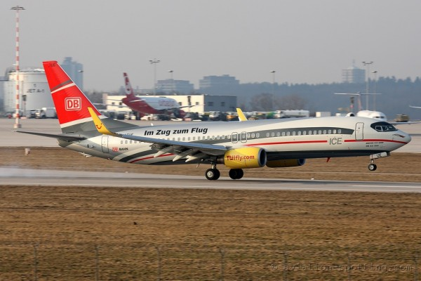 TUIfly Boeing B737-800 DB Bahn special colours (Germany)