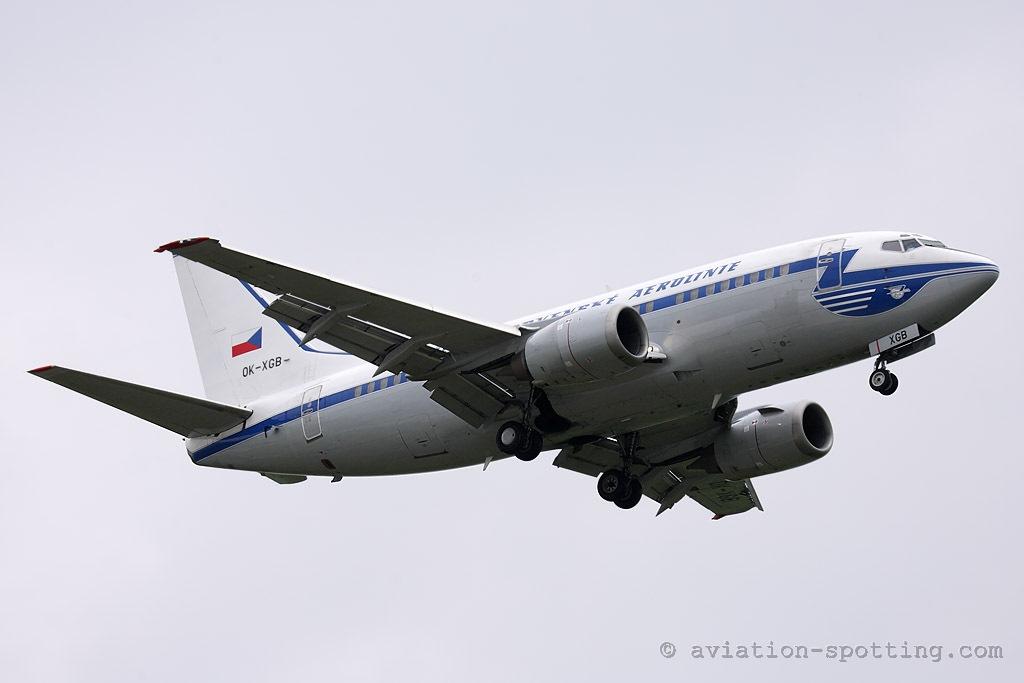 CSA Czech Airlines Boeing 737-500 retro colours