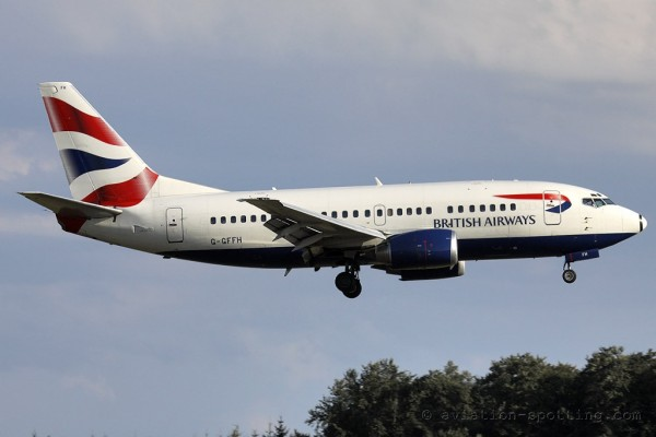 British Airways Boeing B737-500 (UK)