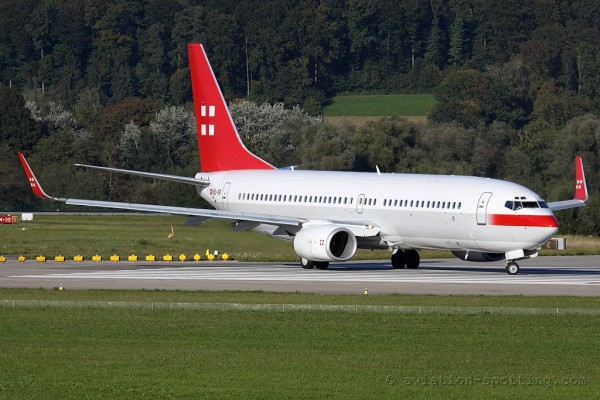 PrivatAir Boeing B737-800 BBJ2 (Switzerland)