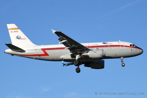 Iberia Airbus 319 retro colours (Spain)