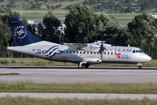 CSA Czech Airlines Aerospatiale ATR42 Skyteam colours