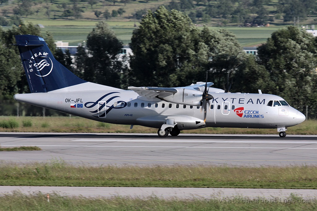 CSA Czech Airlines Aerospatiale ATR42 Skyteam colours