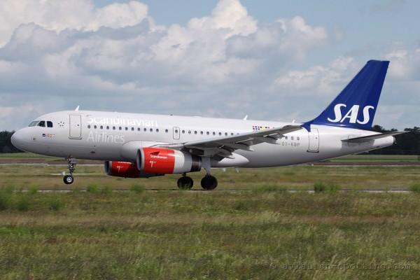SAS Scandinavian Airlines Airbus 319