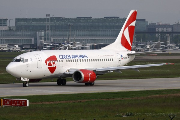 CSA Czech Airlines Boeing B737-500 new colours