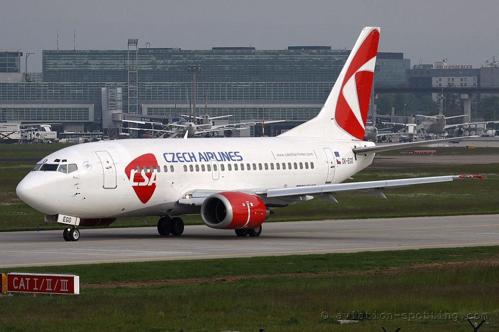 CSA Czech Airlines Boeing 737-500 new colours