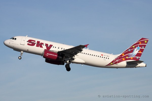 Sky Airlines Airbus 320 (Turkey)