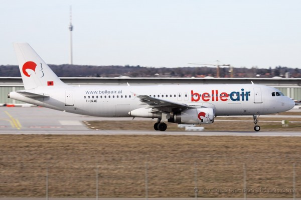 Belleair Airbus 320 (Albania)