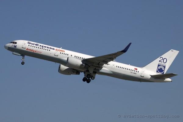 Sun Express Boeing B757-200 (Turkey) 20 years anniversary