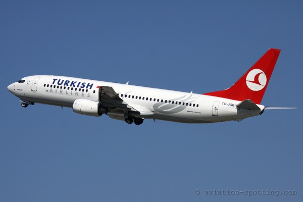 Turkish Airlines Boeing B737-800 old colours