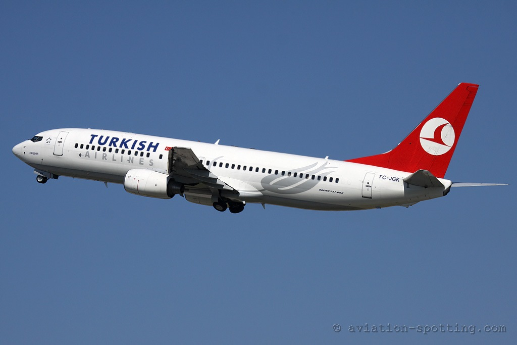 Turkish Airlines Boeing 737-800 old colours