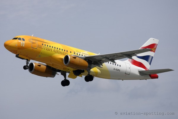 British Airways Airbus 319 Firefly special colours