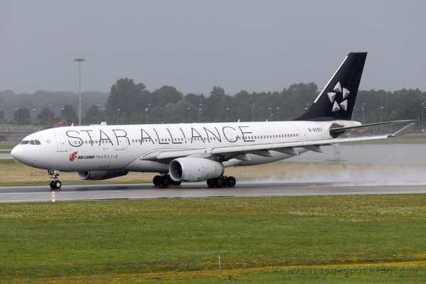 Air China Airbus 330-200 Star Alliance colours