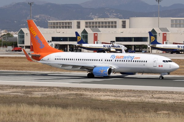 Sunwing Airlines Boeing B737-800 (Canada)