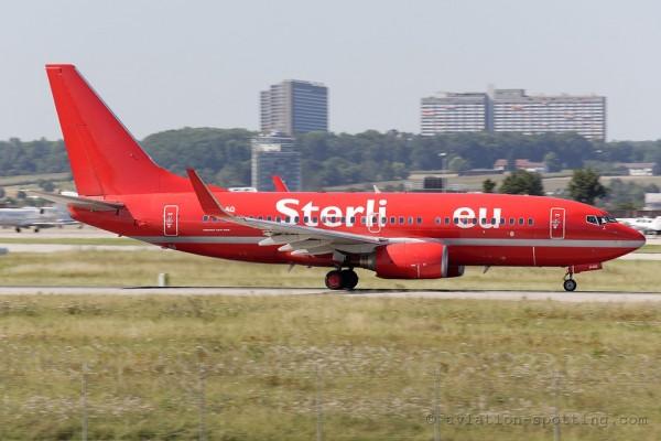 Aerosvit Airlines Boeing B737-700 Sterling hybrid colours (Ukraine)