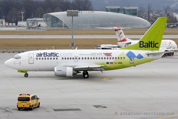 Air Baltic Boeing B737-500 Sochi 2014 special colours (Latvia)