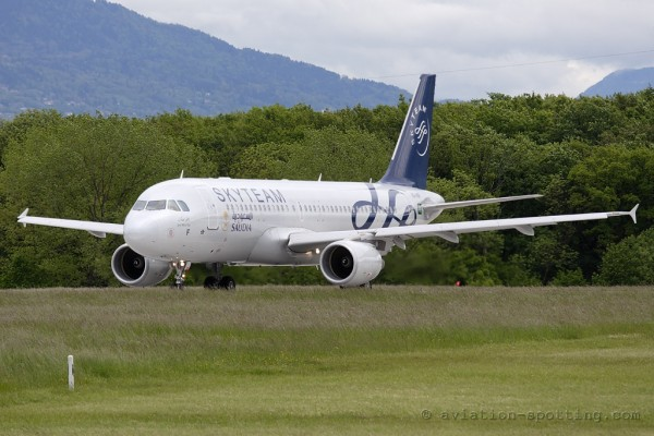 Saudia Airbus 320 Skyteam colours (Saudi Arabia)