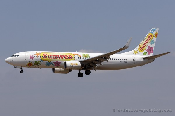 Transavia Airlines Boeing B737-800 Sunweb special colours (Netherlands)
