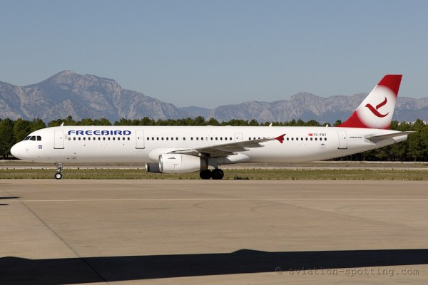 Freebird Airlines Airbus 321 (Turkey)