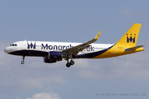Monarch Airlines Airbus 320 (UK)