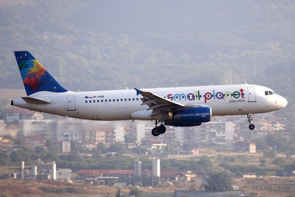 Small Planet Airlines Airbus 320 (Poland)