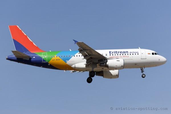 Eritrean Airlines (BH Air) Airbus 319