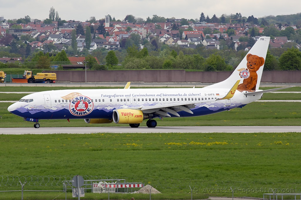 TUIfly Boeing B737-800 Bärenmarke special colours (Germany)