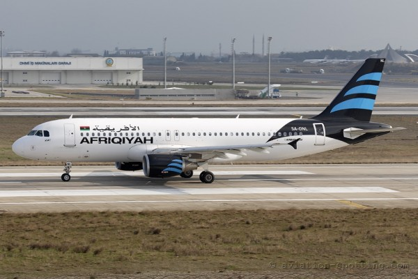 Afriqiyah Airways Airbus 320 (Libya)