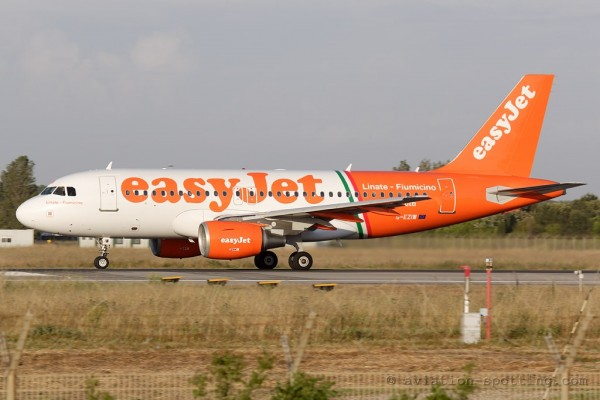 Easyjet Airbus 319 Route promotion special colours (UK)