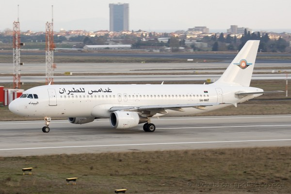 Ghadames Air Transport Airbus 320 (Libya)