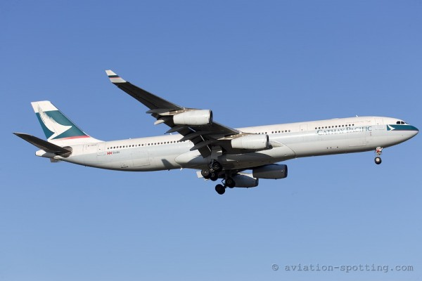 Cathay Pacifc Airbus 340-300 (China)