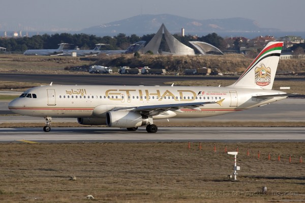 Etihad Airways Airbus 320 (UAE)